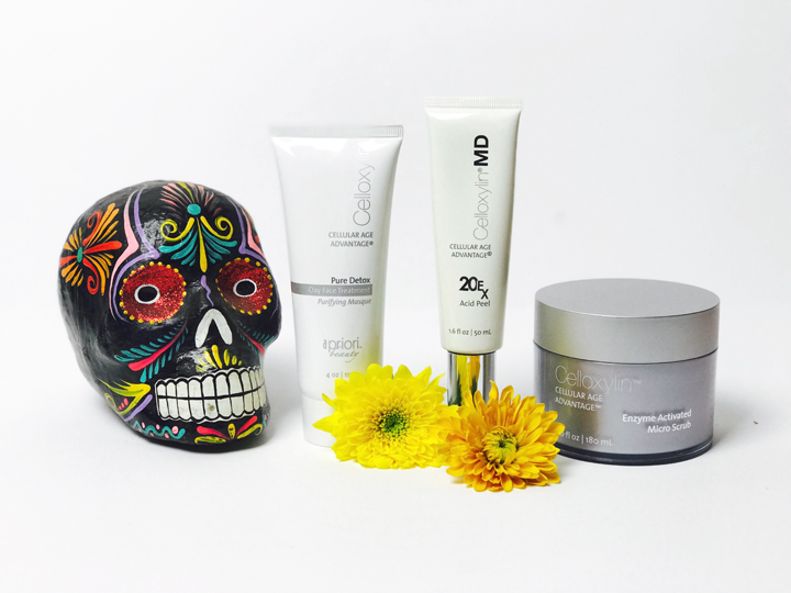 Exfoliating Products + Skull